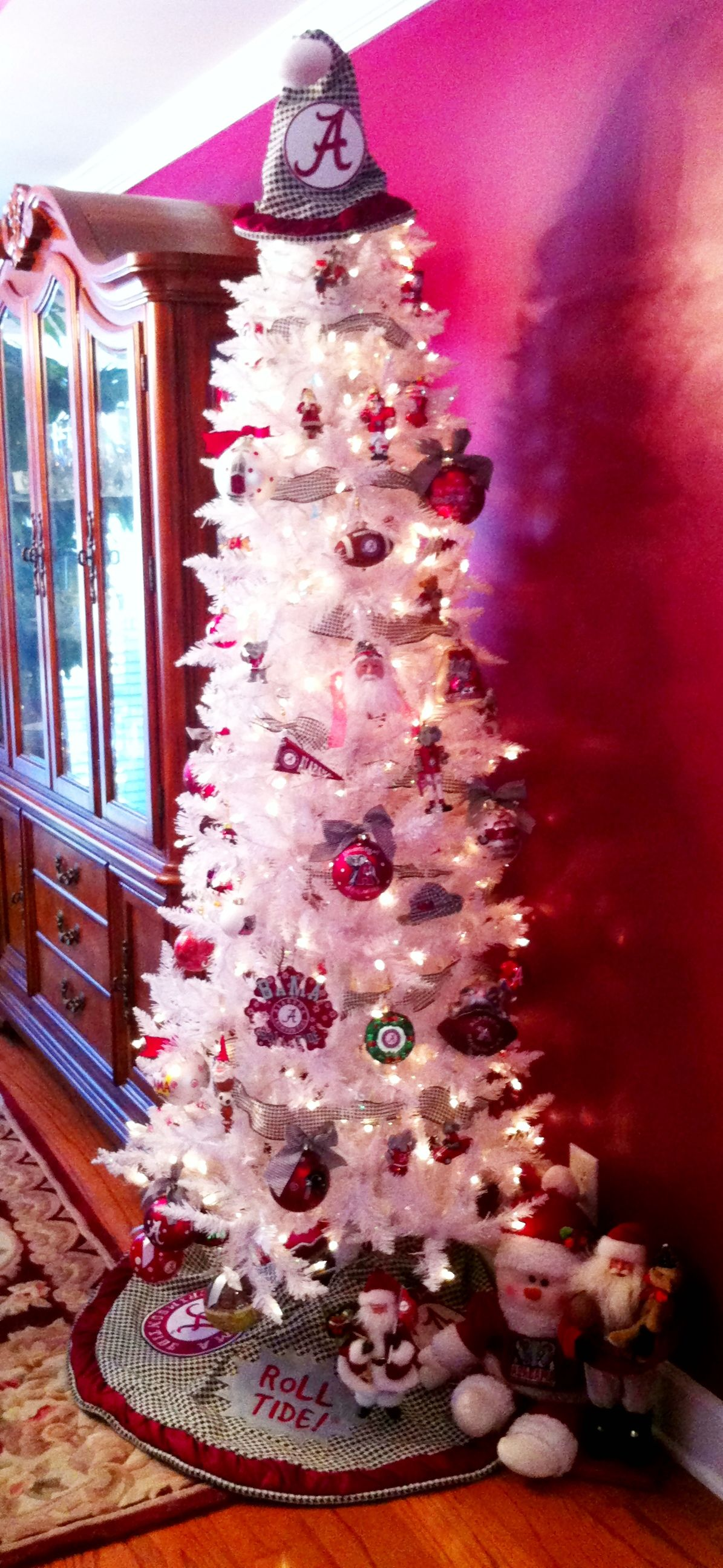 Alabama Christmas.University Of Alabama Themed Christmas Tree Roll Tide Y