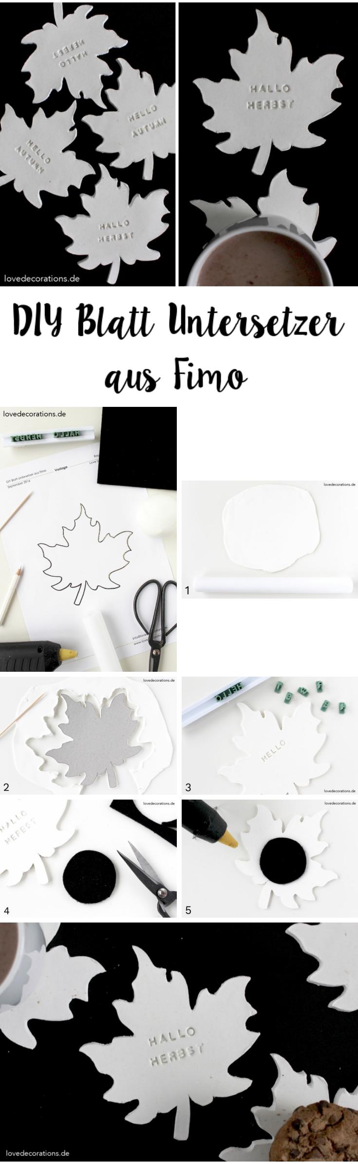 DIY Leaf Coaster made of Clay