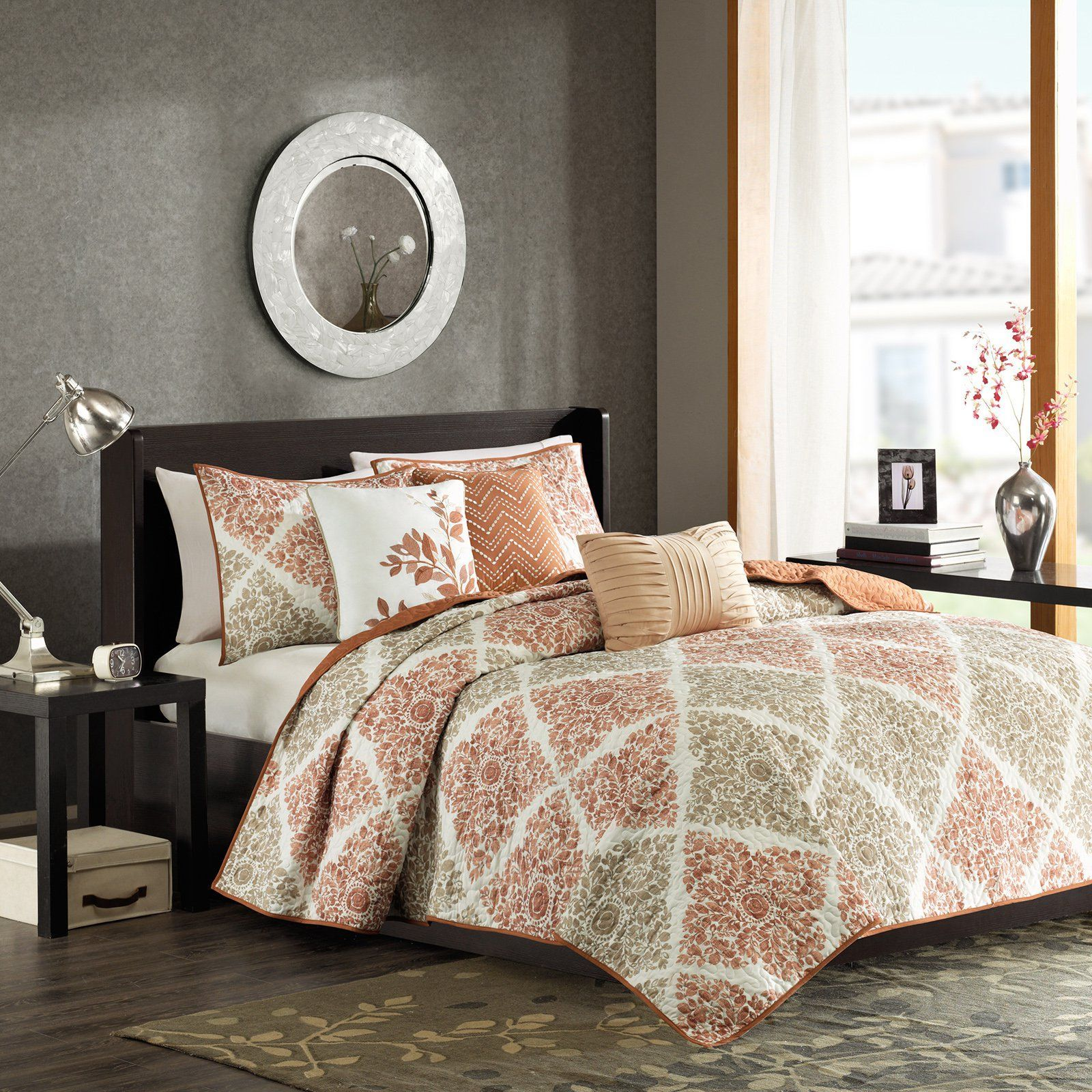 Madison Park Arista 6Piece Quilted Coverlet Set from