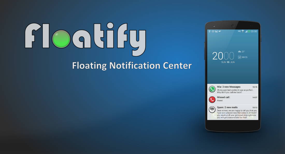 'Floatify' Brings Android Llike Stacked Notifications to