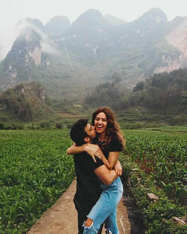 """, KATERINA & YINON on Instagram: """"We didn't have much of a plan when we headed to northern Vietnam. Not a lot of tourists go here (they usually head to Ha Long bay or Sa Pa)…"""", Travel Couple, Travel Couple"""