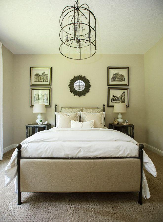 Interior Design Of Guest Room: W Arrangment Above Headboard Artwork Grouping New Interior