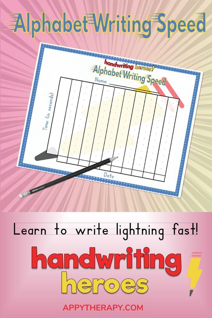 Handwriting Heroes Alphabet Writing Speed Alphabet