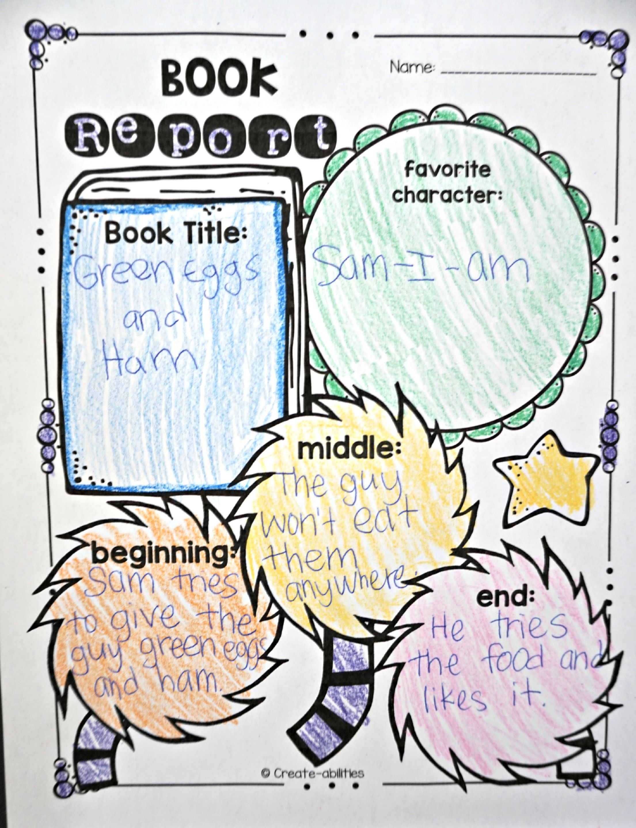 Dr Seuss Book Report I Love The Truffula Trees At The