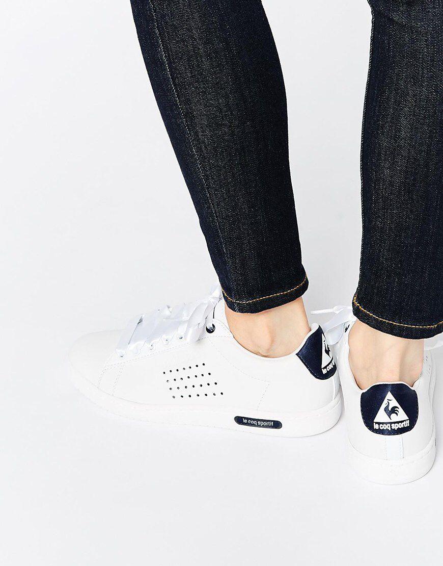 Buy Women Shoes / Le Coq Sportif Arthur Ashe White Leather Trainers