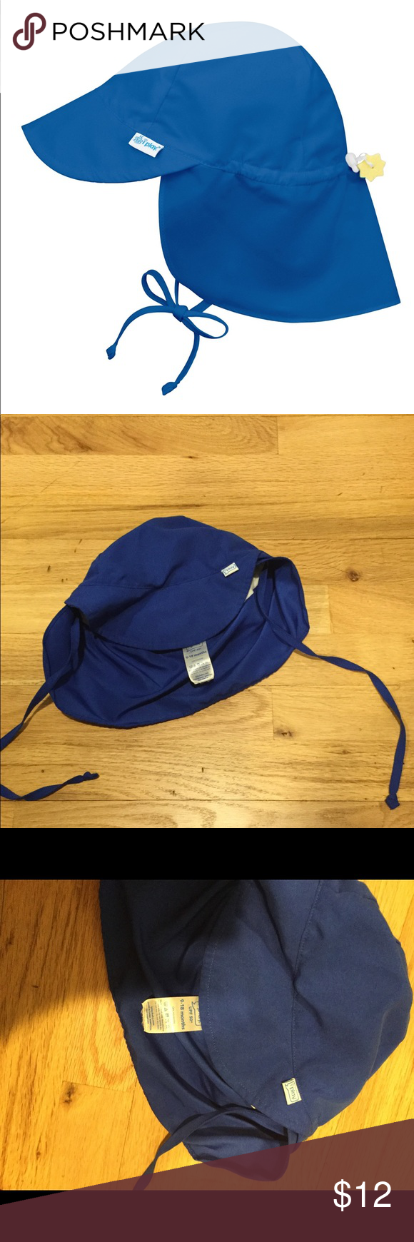 a97e3a67a6c Iplay baby boys blue floppy sun hat UPF 50 Color  Royal Blue Size  9 ...