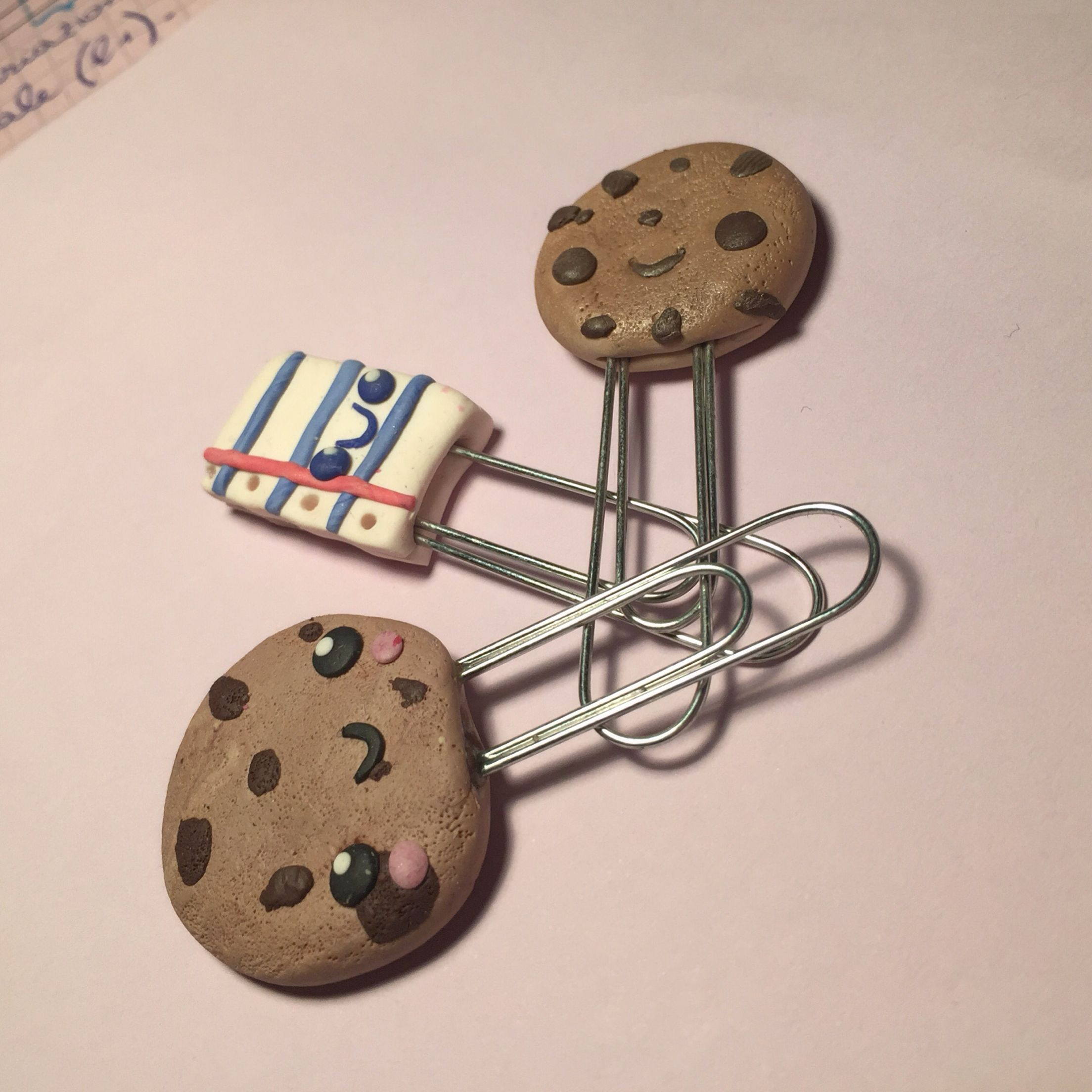 ✏️ back to school fimo clay ideas! Cookies and notebook