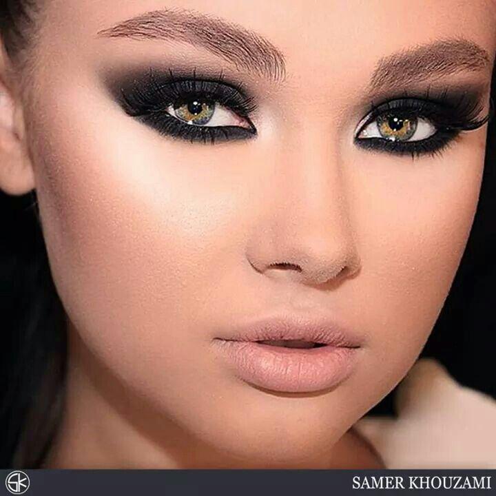 Strong eye makeup