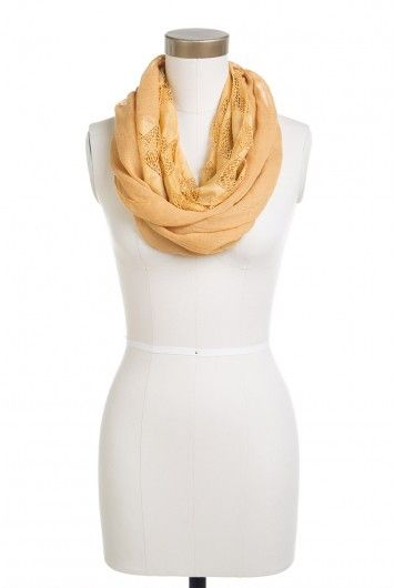 Type 3 Diamonds Of Gold Scarf - $14.97