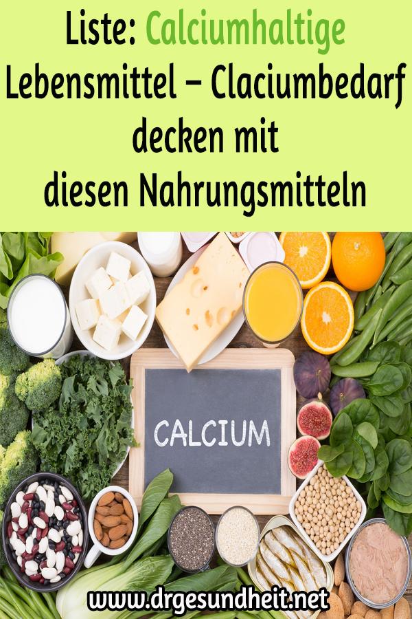 Liste: Calciumhaltige Lebensmittel – Claciumbedarf decken mit
