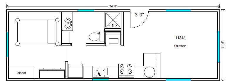 12 X 20 Floor Plans 12x20 Tiny Houses PDF Floor Plans 452 sq
