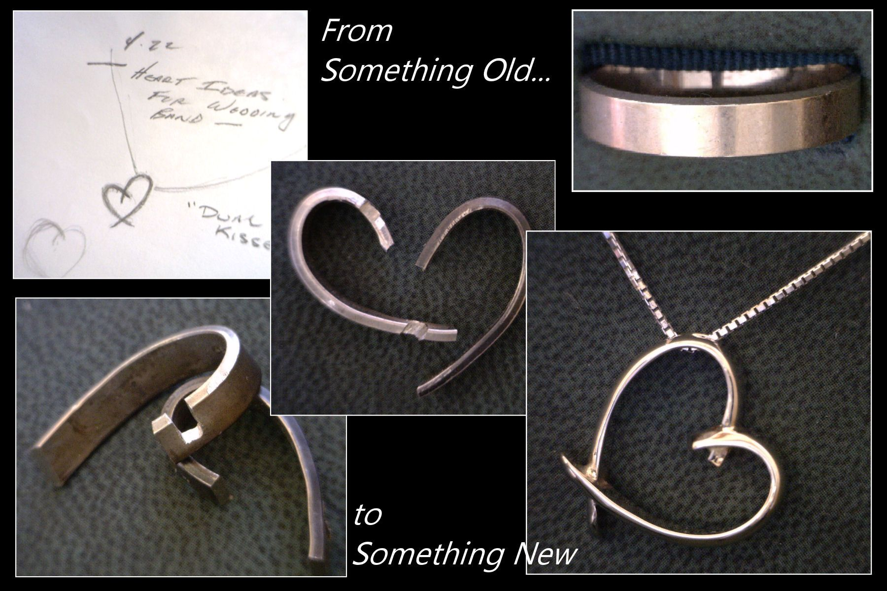 Turning An Old Wedding Band Into A Beautiful Heart Pendant