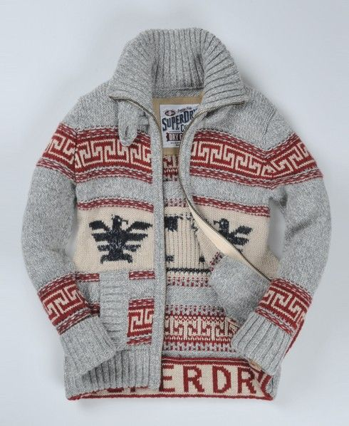 Superdry Big Zip Buffalo Knit The cardigan that Wiz Khalifa