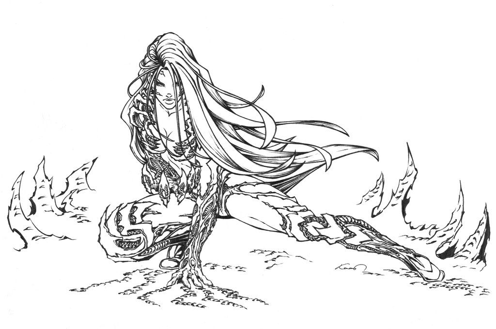Here Is Another Witchblade Drawing Wanted To Try Some