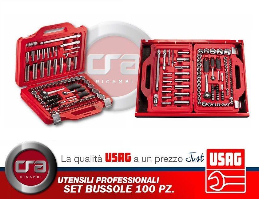 USAG 285 KA//DS12 U02856062 Serie di 12 Chiavi Combinate a Cricchetto con Anello di Tenuta /& 601 1//4-1//2 J100 U06010011 Assortimento in Cassetta Modulare Bussole Esagonali e Inserti per Avvitatura