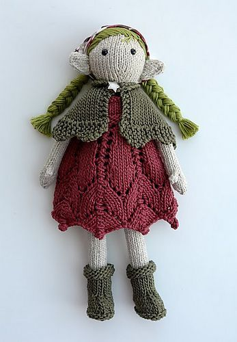 Knitted fairy doll by tausigma. Free pattern, Sally, the Eco Fairy by Jennie ...