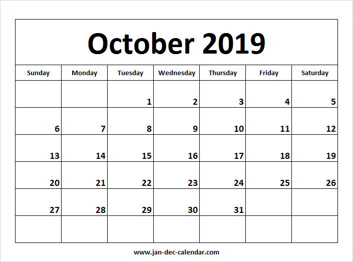 2019 October Through December Calendar October 2019 Calendar | January December Calendar | September