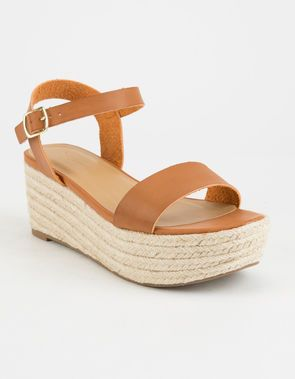 241198786be CITY CLASSIFIED Espadrille Tan Womens Platform Sandals