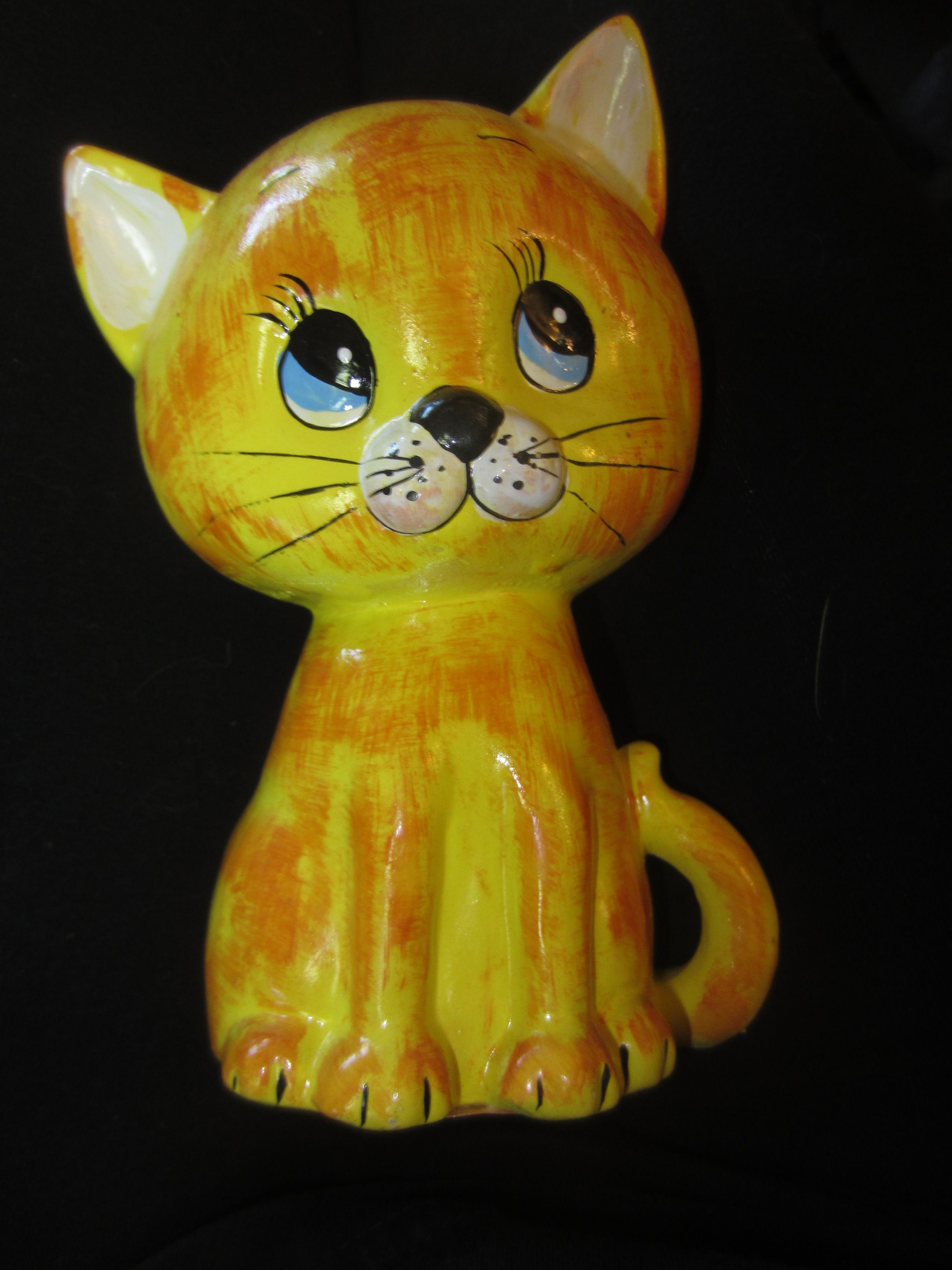 Vintage Meowing Kitty Noise Maker Bank By Enesco Kitschy