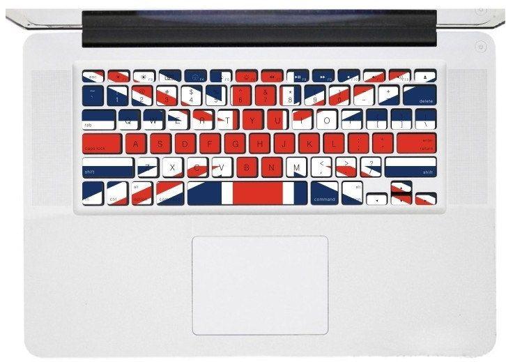 Uk flag macbook pro keyboard decal sticker macbook air keyboard decal apple mac vinyl