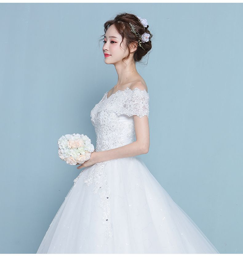 Ladies wedding dress 2017 new Korean bride wedding big size was ...