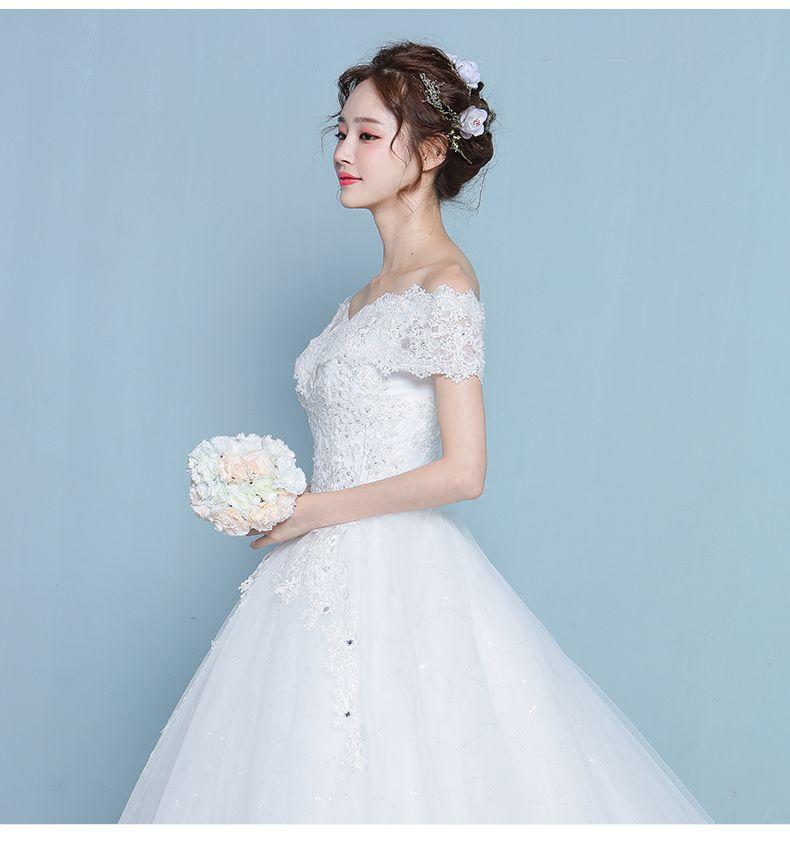 Korean Wedding Gowns: Ladies Wedding Dress 2017 New Korean Bride Wedding Big