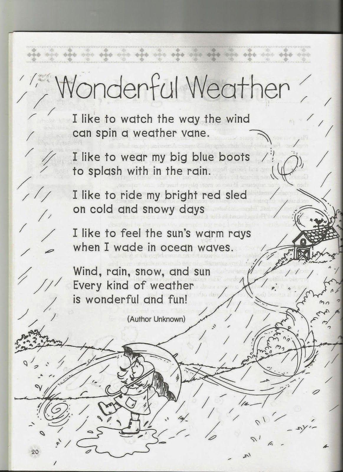 1st Grade Poem