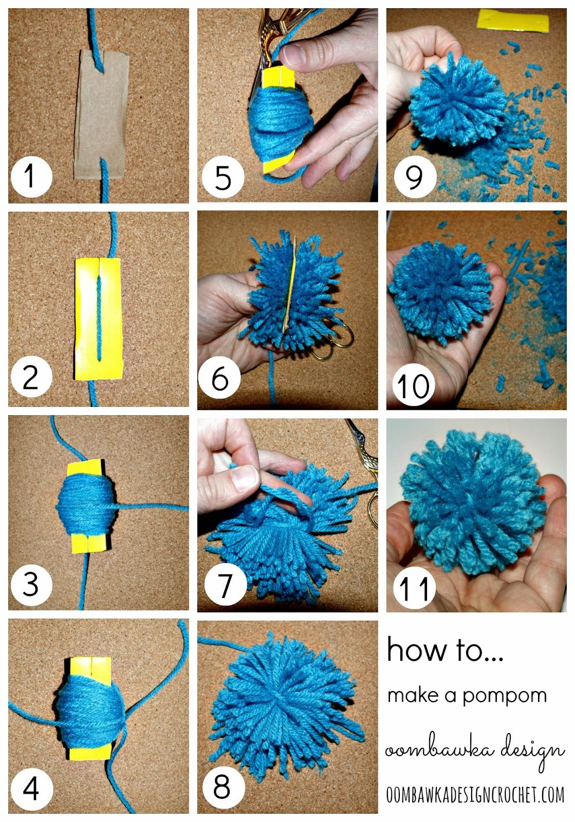 how to make a pompom craftabulous crochet crochet patterns crochet projects. Black Bedroom Furniture Sets. Home Design Ideas