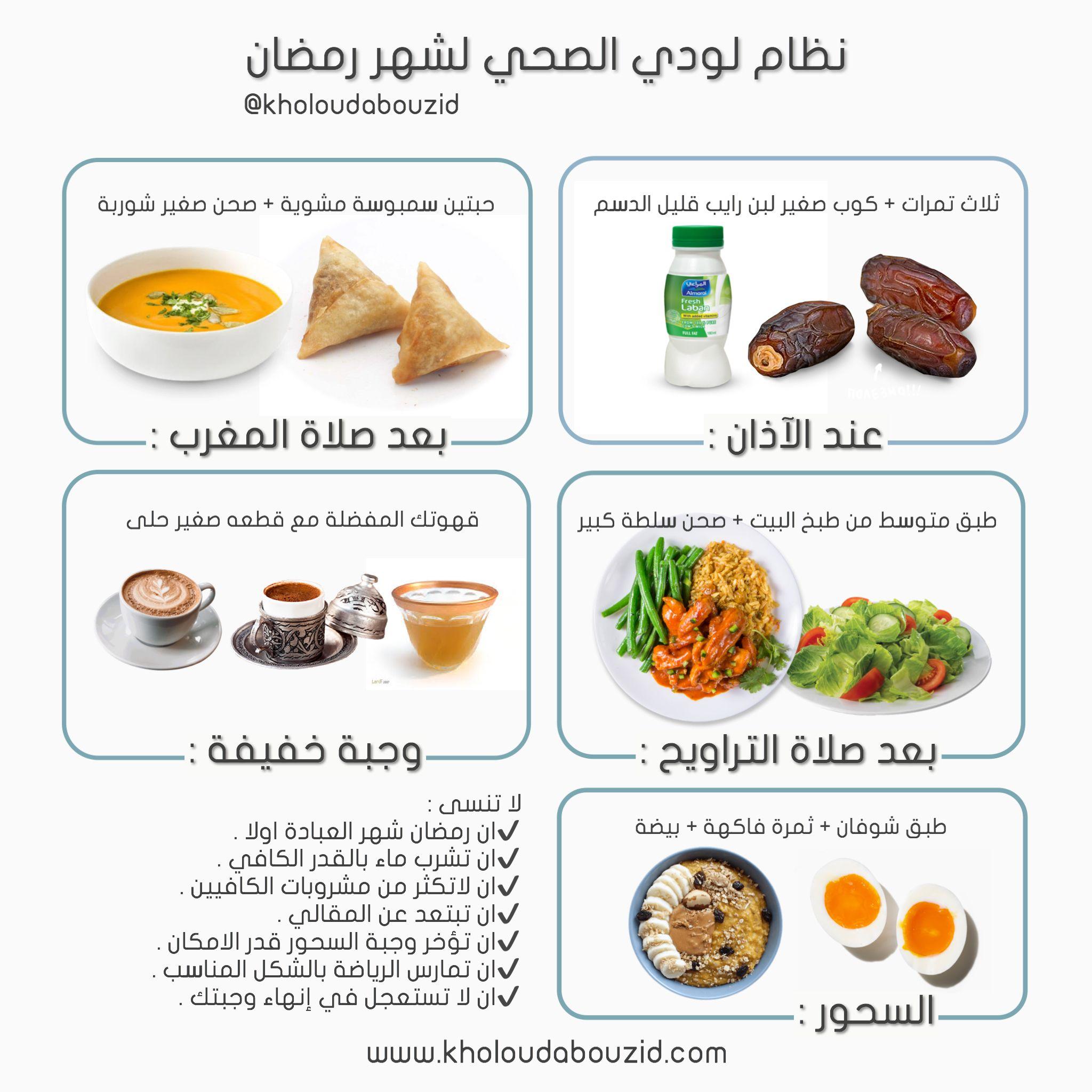 نظام صحي لخسارة الوزن في رمضان Healty Food Health Facts Food Food Snapchat