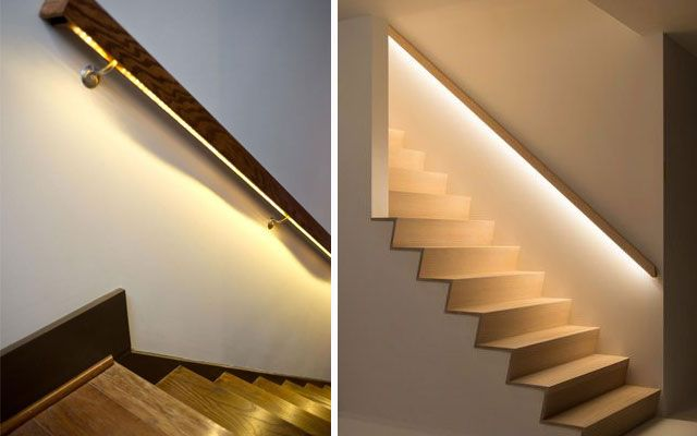 Ideas para decorar escaleras con luz stairs pinterest luces luces en escaleras y - Iluminacion de escaleras ...