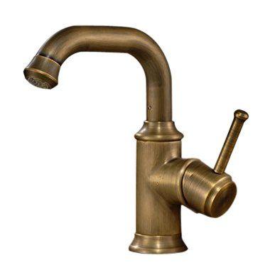 Modern Antique Brass Finish Deck Mount Bahtroom Basin Mix Brass Bathroom Faucets Bathroom Faucets Brass Bathroom Fixtures