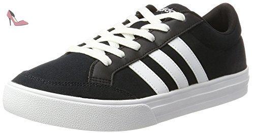 finest selection aa038 f26fa adidas Vs Set, Chaussures de Tennis Homme, Noir (Negbas Ftwbla Ftwbla