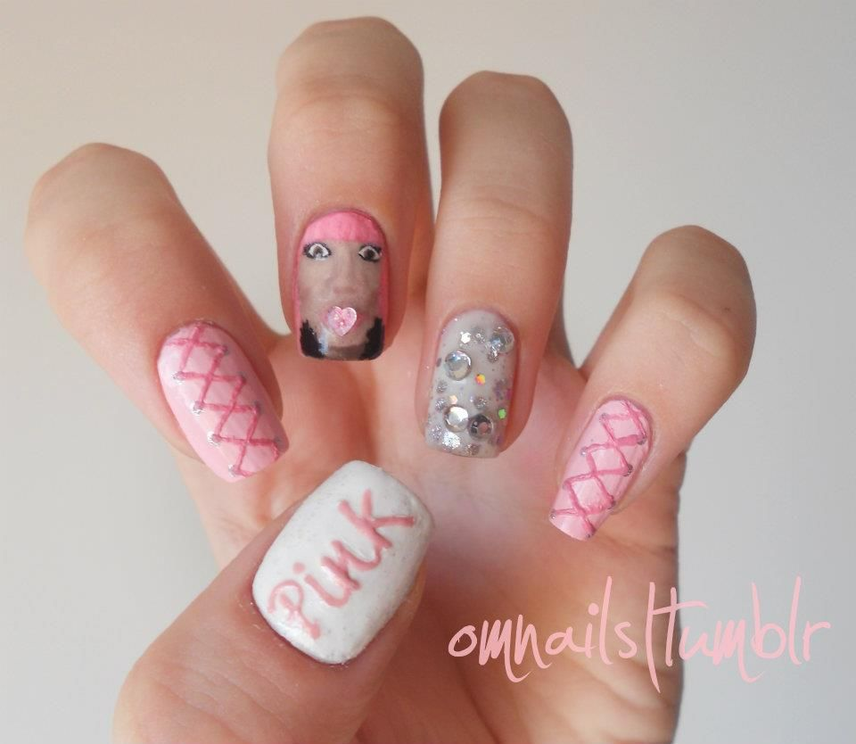 Nicki Minaj Nail Art | Cute nails by other people | Pinterest ...