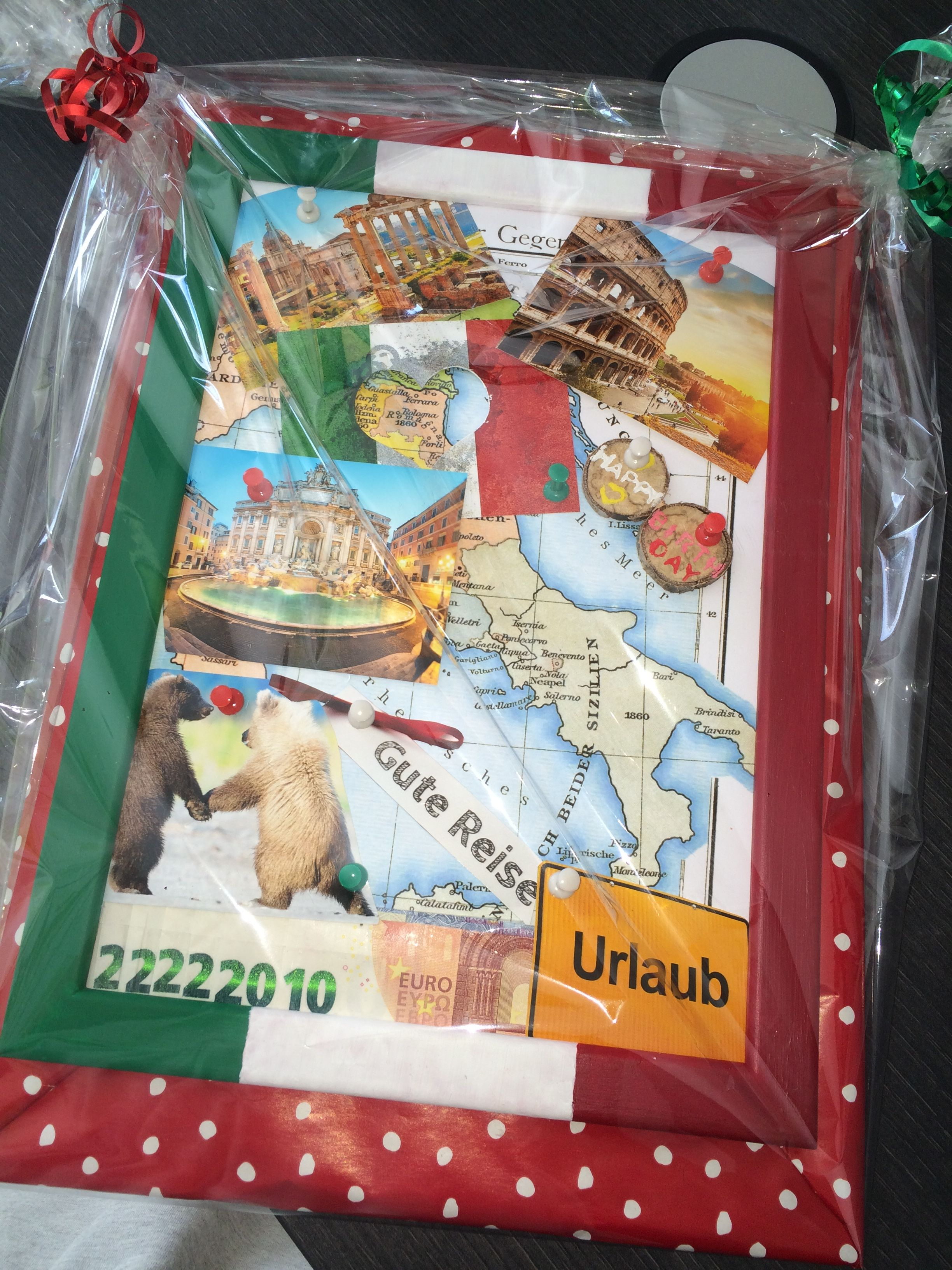 Geldgeschenk italien bilderrahmen geburtstag for Geschenk zum 60 mutter