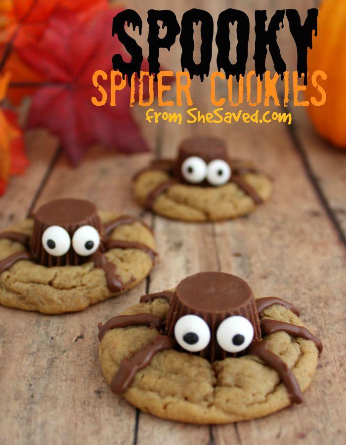 Halloween Treat Spooky Spider Cookies Recipe Spider cookies - halloween baked goods ideas