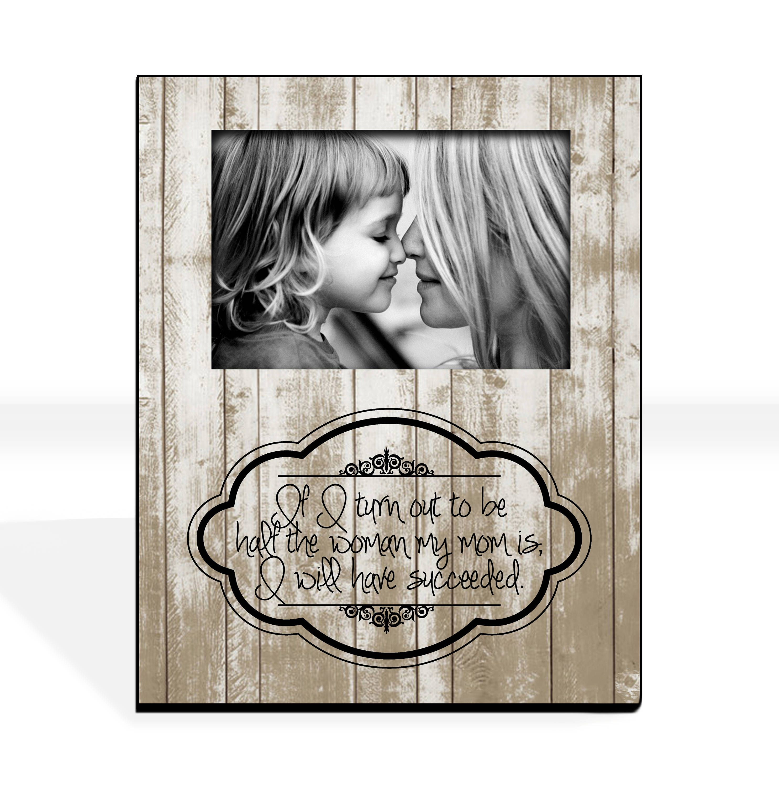 Mothers Day From Daughter Gift for Mom Custom Photo Frame Mother ...