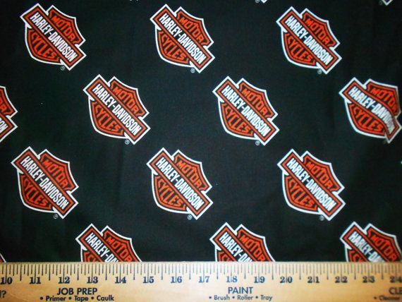 Harley Davidson Or Angry Birds Fabric Sold By The Half By Rspomm 15 50 Harley Davidson Fabric Harley Davidson Fabric Birds