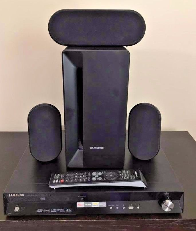 Samsung DVD Home Theater System HT-X40 3 speakers + Subwoofer Wires ...
