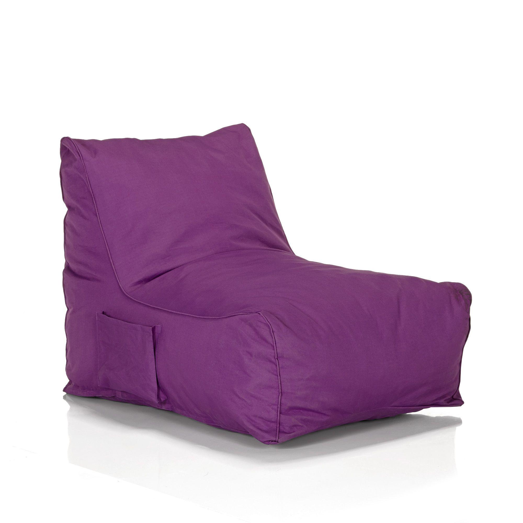 fauteuil pouf violet violet amalia