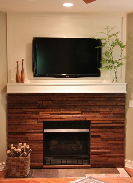 Diy Fireplace Makeover Wood