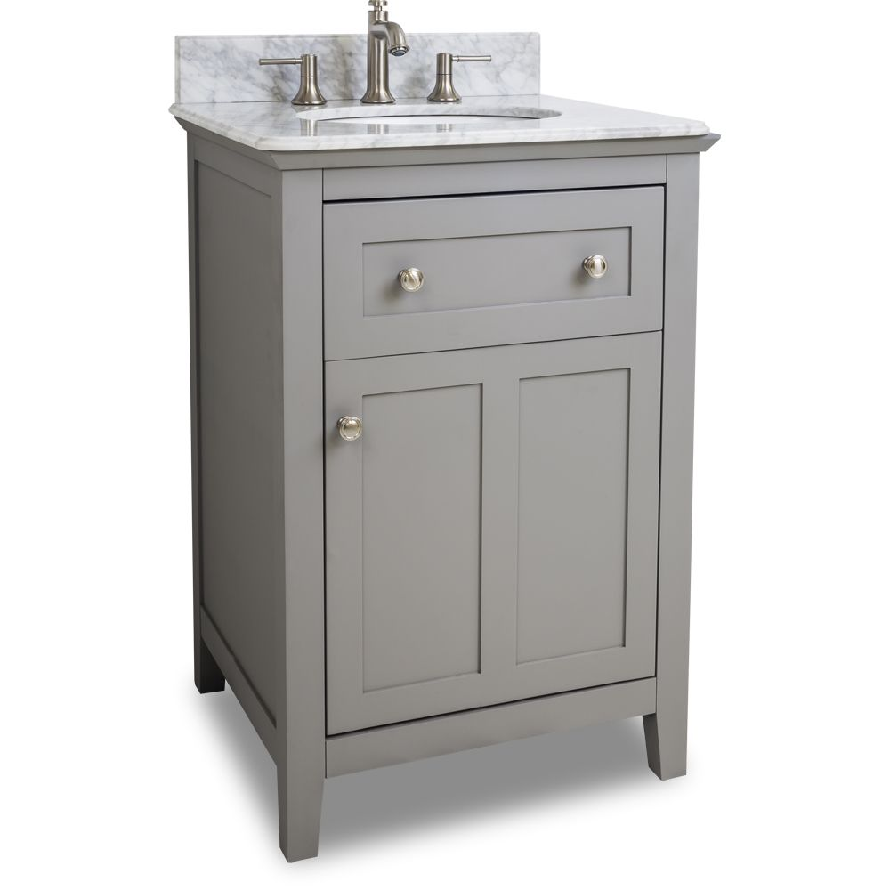 Van102 24 T 24 Grey Chatham Shaker Vanity With Top And Bowl In