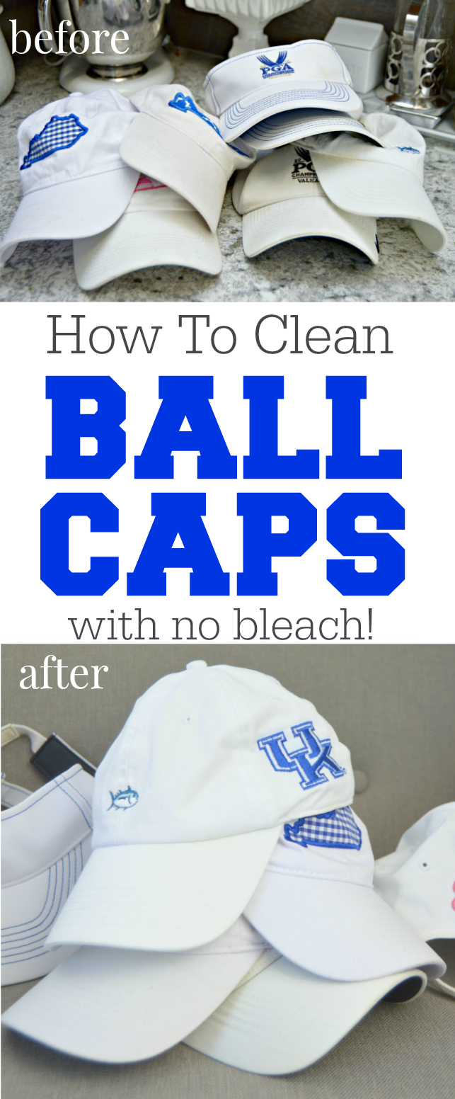 How To Clean Ball Caps With No Bleach Mom 4 Real Cleaning Hacks Ball Cap Cleaning