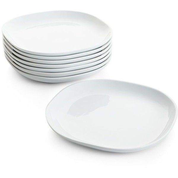 Crate u0026 Barrel Set of 8 Maddie Dinner Plates featuring polyvore home kitchen u0026  sc 1 st  Pinterest & Crate u0026 Barrel Set of 8 Maddie Dinner Plates featuring polyvore ...
