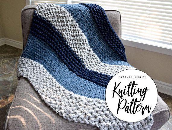 Chunky Blanket Pattern Knitting Throw Pattern Extreme Knitting