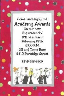 Red Party People - Academy Awards Party Invitations Oscar Awards Party Invitations
