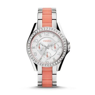 Riley Multifunction Two-Tone Stainless Steel and Nylon Watch