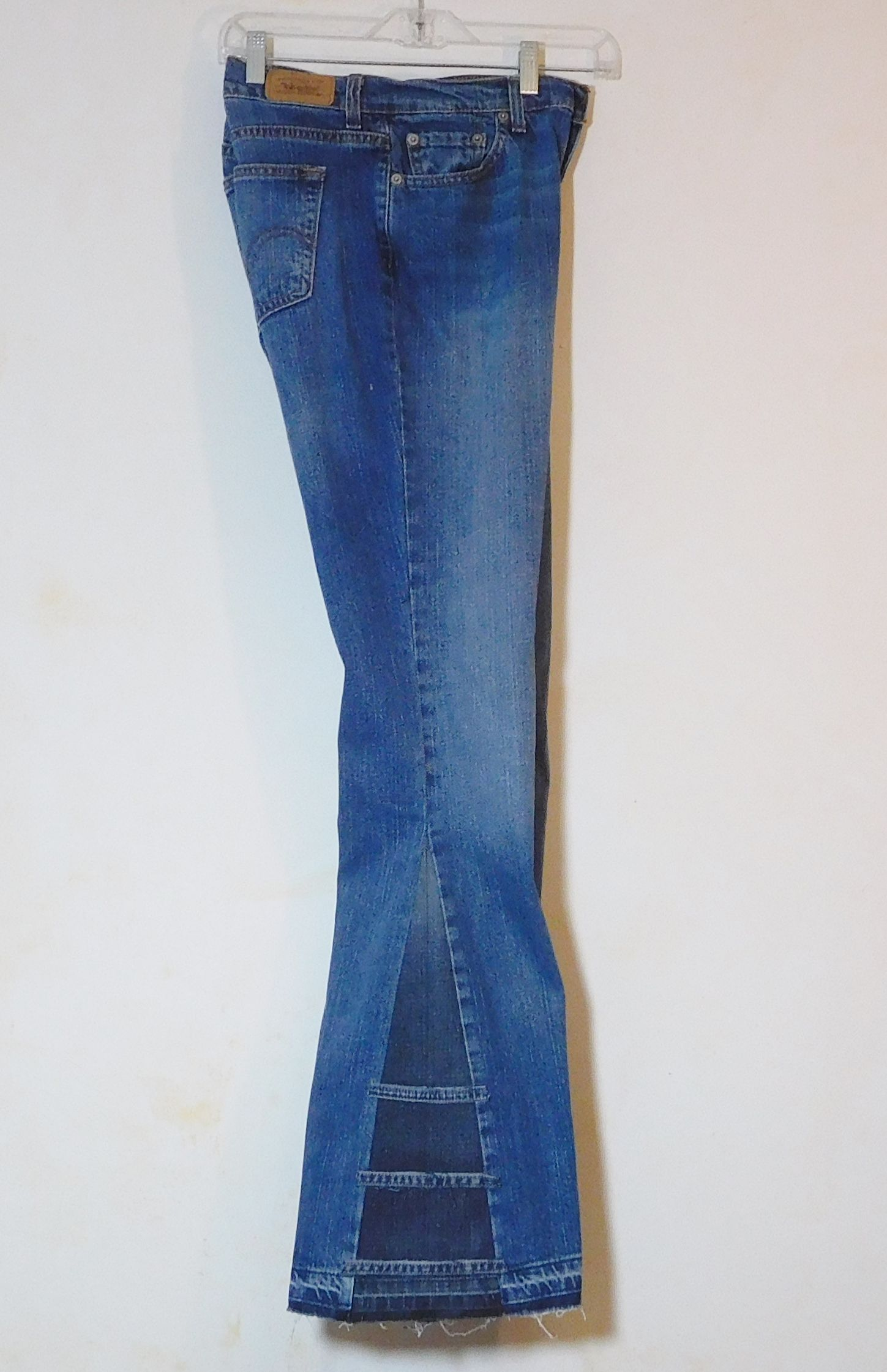 bf4dfb4fdea Womens Levi upcycled bell bottom jeans. 70s hippie clothes. Size 10 long