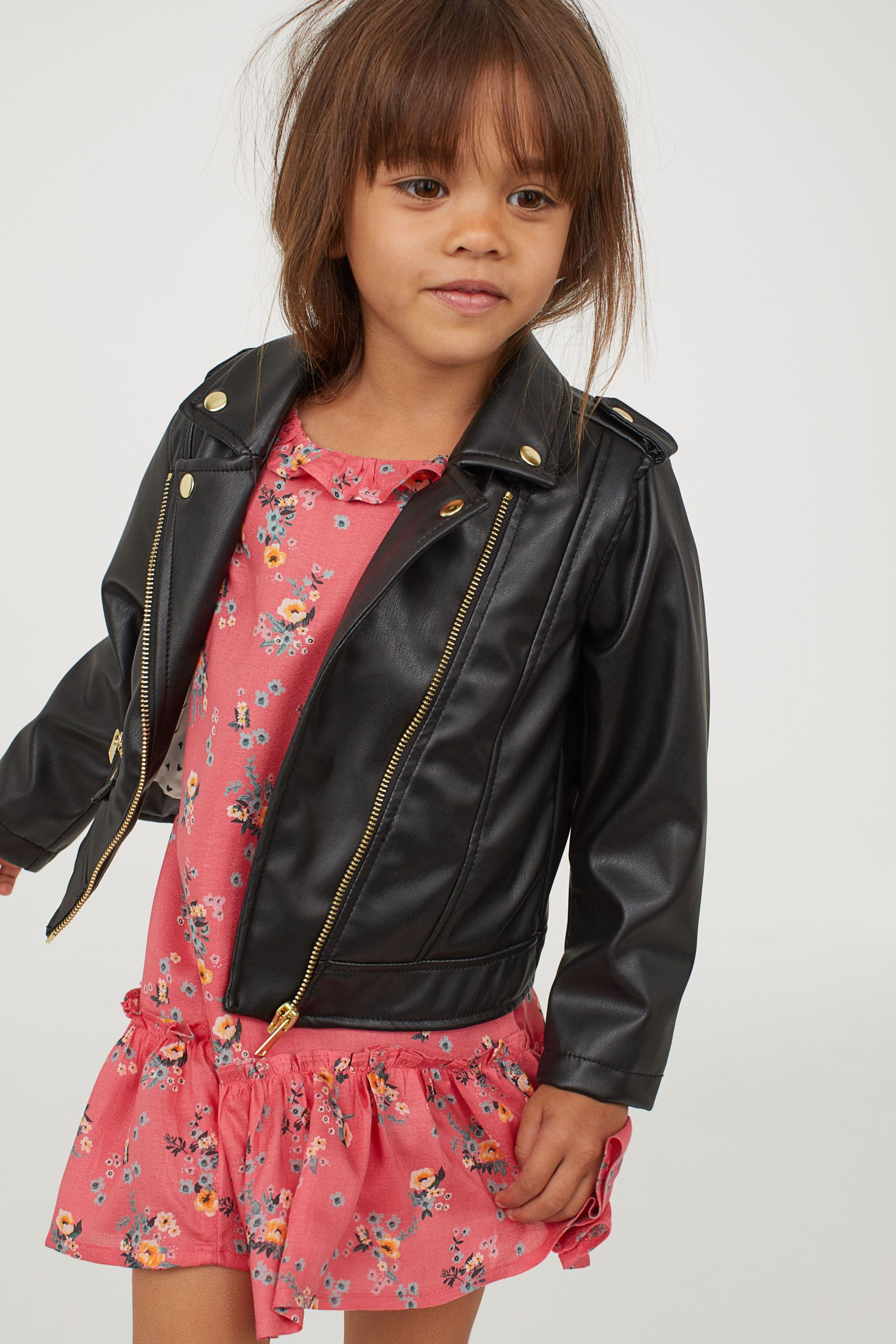 11855b209 Biker jacket | Millys 7th Birthday | Black kids, H&M, Jackets