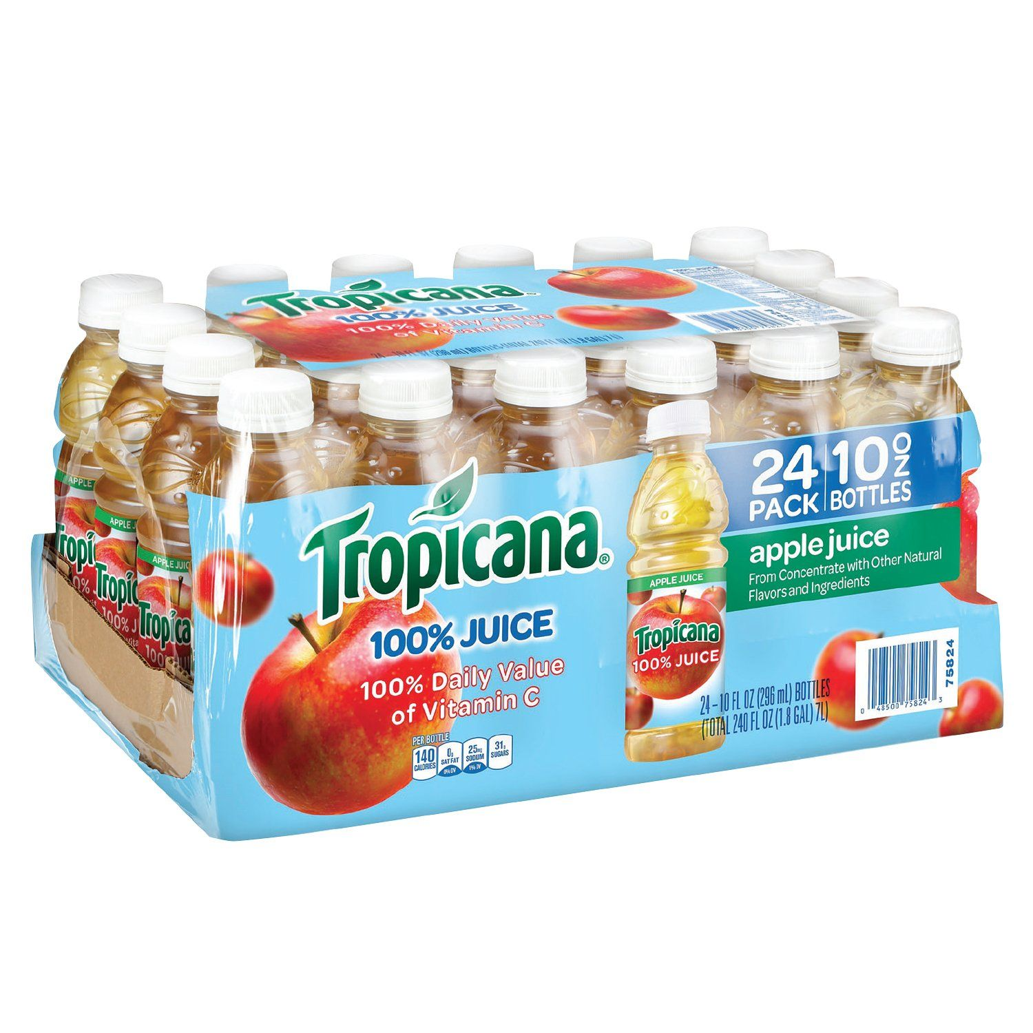 Tropicana Apple Juice, 10 oz., 24 Count These beverages