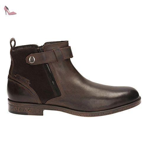 Clarks Détente Habillé Homme Boots/Bottes Brocton Mid En Cuir Marron Taille  44 - Chaussures